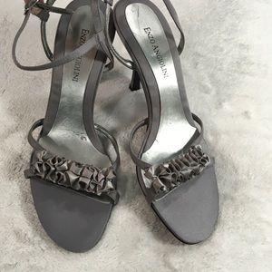 Enzo Angiolini Eanixie grey ruffle heels size 7.5